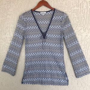 Crave Fame by Almost Famous, chevron top. Size M